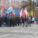 В Североуральске прошел митинг, посвященный празднику Весны и Труда. ВИДЕО