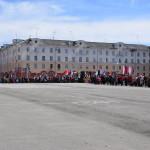На площади уже ждут приближающихся демонстрантов