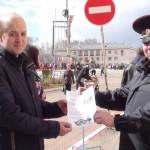 Участковые уполномоченные полиции Североуральска поздравляют горожан с днем Великой Победы