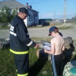 Добровольные пожарные провели профилактическое мероприятие