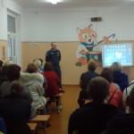 На родительском собрании в школе №15 выступил сотрудник ФГКУ «15 ОФПС по СО»
