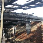 В поселке Третий Северный 5 октября горел частный дом, где проживает многодетная семья