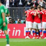 Россия начала чемпионат мира с убедительной победы - 5:0 в матче с Саудовской Аравией