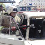 В поселке Калья горел ВАЗ-2109. Пожар потушили за две минуты