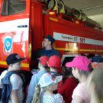 Ребята из детского лагеря сходили на экскурсию в пожарную часть